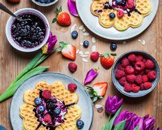 Breakfast in bed anyone? Plan ahead and whip up a batch of these crave-worthy gluten-free waffles with blueberry compote for Sunday after next… Blueberry Waffles, Blueberry Compote, Gluten Free Waffles, Gluten Free Flour, Waffle Ingredients, Waffle Recipes, Breakfast In Bed, Clean Recipes, Gluten Free Recipes