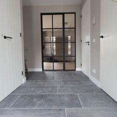 Belgian bluestone flooring in Waddinxveen 2020 - Hallway Ideas Hallway Ideas Entrance Narrow, Modern Hallway, Luxury Flooring, Small Hallways, Furniture Styles, Living Room Kitchen, Kitchen Flooring, Decoration, Sweet Home
