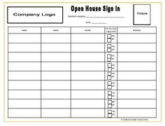 Coldwell Banker Open House Sign In Sheet by RichAgent on Etsy ...