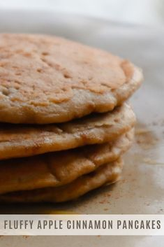 These fluffy apple cinnamon oat pancakes are so easy to make and incredibly delicious! If you love apple cinnamon but are not in the mood for chopping and peeling apples, this recipe is for you! #vegetarian #applecinnamon #oatpancakes Oat Pancakes, Fluffy Pancakes, How To Make Applesauce, Pancakes From Scratch, Apple Cinnamon, Vegetarian, Mood, Ethnic Recipes, Easy