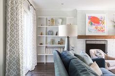 living room makeover - Kansas City Interior Deisgn by Coveted Home