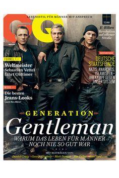 Daniel Craig, George Clooney & Matt Damon, GQ cover. Yum.