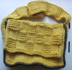 Crochet Basketweave Messenger Bag