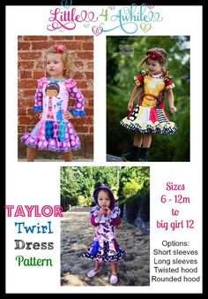 (9) Name: 'Sewing : Girls Taylor Twirl Upcycle Dress Pattern