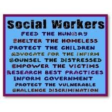Career in Social Services...people always ask me what Social Workers do. This is great!