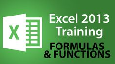 Microsoft Excel 2013 Training - Formulas and Functions - Excel Training ...