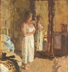 Bernard Dunstan, R.A. (b. 1920) | The Wardrobe Mirror,