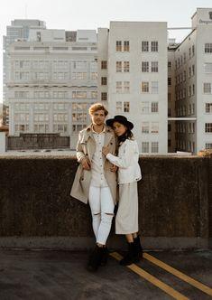 Rooftop Photoshoot, Couple Photoshoot Poses, Couple Photography Poses, Couple Posing, Couple Shoot, Vintage Couple Photography, Anniversary Photos, How To Pose, Photoshoot Inspiration
