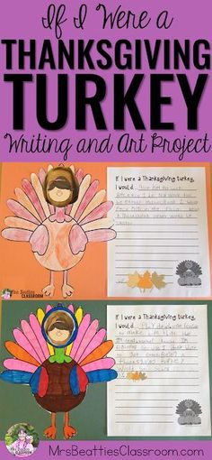 Thanksgiving Writing and Art Activities What would it BE like to be the Thanksgiving turkey? Let your students' imaginations run wild with this fun writing and art activity! This is the perfect activity for the days leading up to Thanksgiving break! Thanksgiving Classroom Activities, Thanksgiving Writing, Thanksgiving Turkey, Holiday Activities, Classroom Ideas, Thanksgiving History, Canadian Thanksgiving, Thanksgiving Quotes, Thanksgiving Appetizers