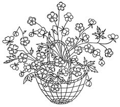 Vintage Embroidery Designs — Baskets | Q is for Quilter | Bloglovin'