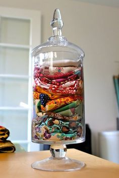 pretty way to store scraps Craft Room Organization: 10 Smart Ways to Store Fabric