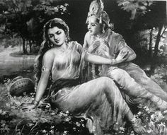 Benton Spruance, (American, Brief Balance, 1941 Indian Gods, Indian Art, Lord Hanuman Wallpapers, Krishna Painting, Radha Krishna Love, Hindu Art, Lost & Found, Lovers Art, Art Images