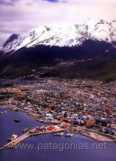 Ushuaia Argentina - aerial view