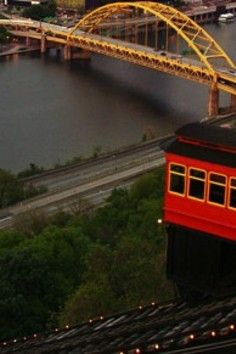 """PITTSBURGH, PA - Dusquesne Incline - A magnificent view of Pittsburgh's """"Golden Triangle"""""""