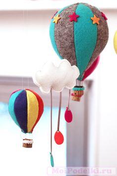 Мобиль из фетра Воздушный шар своими руками | Игрушки своими руками #moipodelki #моиподелки http://moipodelki.ru/article/view/mobil_iz_fetra_vozdushniy_shar_svoimi_rukami-323.html