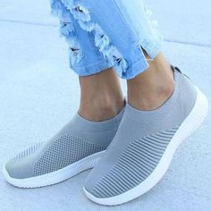 Mila - Breathable Sneakers Platform Sneakers, Slip On Sneakers, Slip On Shoes, Vegan Sneakers, Vegan Shoes, Knit Shoes, Color Khaki, Vegan Leather, Oxford Shoes