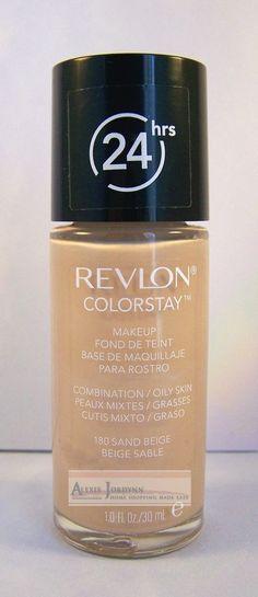 Revlon Makeup ColorStay Foundation Combination Skin 24 HR Wear - Sand Beige 180 #Revlon #FaceMakeup