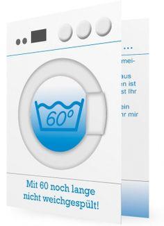 60. Geburtstag Einladung Vorlagen, Waschmaschine