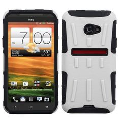 $9.99 for #HTC EVO One 4G LTE #Protector Case #Cover - Hybrid White/Black Advanced from #Acetag with Free Shipping in the US and Canada.