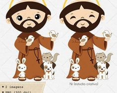 São Francisco de Assis - Clipart / Vetor Cute Images, Silhouette Projects, Minnie Mouse, Disney Characters, Fictional Characters, San Francisco, Clip Art, Stickers, Vector Clipart
