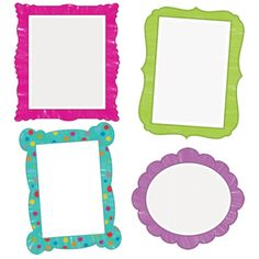 Colorful Chalkboard Colorful Cut-Outs®, CD-120165