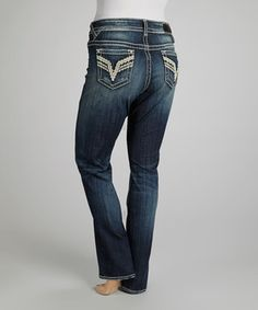 Loving this Vigoss Dark Wash Chelsea Straight-Leg Jeans - Plus on #zulily! #zulilyfinds