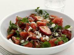 Balsamico-Erdbeeren mit Brunnenkresse und Feta