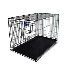 Simply Plus Dog Crate [Newly Designed Model], Double-Doors Folding Metal w /Tray ** You can get additional details at the image link. (This is an affiliate link) #DogLovers