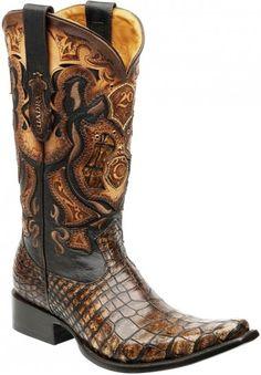 Cuadra boots exotic crocodile  Botas Cuadra piel exotica
