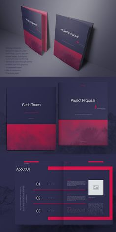 Purple Business Proposal Layout is beautiful and cool layout for Adobe InDesign. Print ready or export as PDF. Layouts can easily be mix and matched, simply use Page Layout Design, Graphisches Design, Magazine Layout Design, Vector Design, Indesign Templates, Adobe Indesign, Brochure Template, Graphic Design Brochure, Letterhead Design
