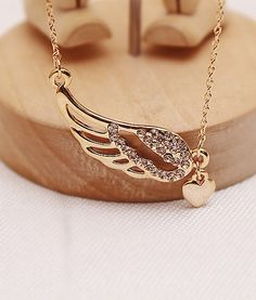 Pi Phi angel wing necklace #piphi #pibetaphi