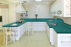 Turquoise Countertops | 2014 Crystaline, is a registred trademark from ROYAL GROUP. All ...