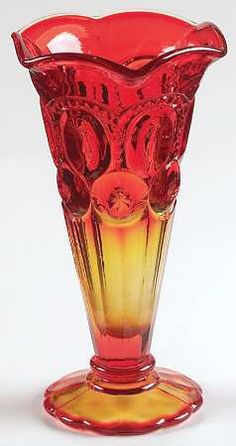 Smith Glass Moon & Stars-Amberina at Replacements, Ltd