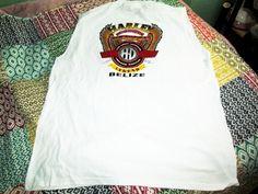 Harley Davidson Motorcycles Shirt Belize Central America White 2XL Sleeveless #Yazbek #GraphicTee