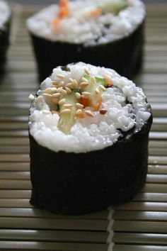 Vegan Sushi /by Colorful Palate #vegan #recipe