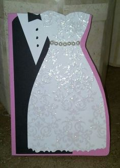 My first bride and groom card
