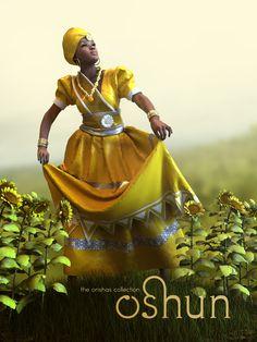 Oshun by Danilo Lejardi Digital Artis💖 African Mythology, African Goddess, Black Women Art, Black Art, Black Girls, African American Art, African Art, Oshun Goddess, Yoruba Orishas