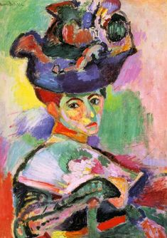 Woman with a Hat (Femme au chapeau), 1905 by Henri Matisse #matisse #paintings #art