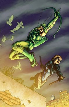 Green Arrow Black Canary by *ChrisSummersArts on deviantART
