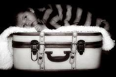 Title:  Newborn On Vintage Suitcase  Artist:  Tawnya Apuan  Medium:  Photograph - Photograph