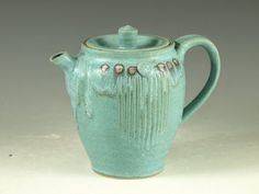 Hey, I found this really awesome Etsy listing at https://www.etsy.com/listing/190056263/pottery-teapot-in-turquoise-glaze-18-oz