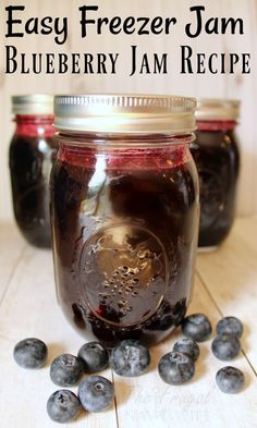 Stop canning jam! Freezer jam will change your life! It's so much easier and this blueberry jam recipe is a family favorite!