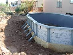 Above Ground Pool Ready for a Liner