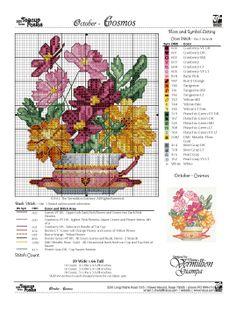 cross stitch - rainbow loom . October - Color