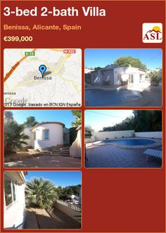 3-bed 2-bath Villa in Benissa, Alicante, Spain ►€399,000 #PropertyForSaleInSpain