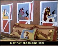 horse theme bedroom decorating ideas - girls horse themed bedrooms - - horse wall murals - pony theme bedroom decorating ideas - Cowgirl theme bedroom horse theme bedding - Carousel theme bedrooms - girls horse theme bedding - Horses on the Farm Wall Murals -