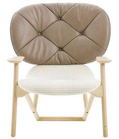 Klara Gepolsterter Sessel Rückenlehne Leder – Moroso