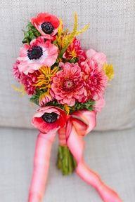Perfect Spring Bouquet // Pink dahlias + Anemones