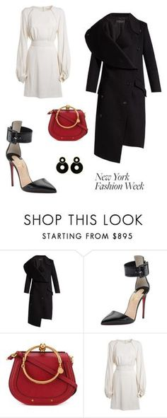 """Untitled #534"" by maylamartha ❤ liked on Polyvore featuring Burberry, Christian Louboutin and Chloé"