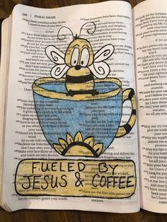 Fueled by Jesus and coffee. Journal News, Journal Art, Bible Journal, Art Journals, Psalm 106, Psalms, Scripture Art, Bible Art, Philippians 4 13
